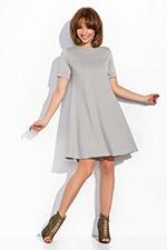 rozkloszowana z krótkim rękawem sukienka