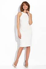 biała sukienka koktajlowa prosta