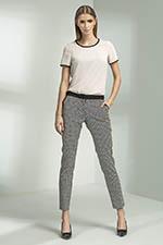 rurki damskie spodnie wzorzyste