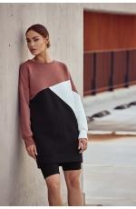 Trójkolorwa Sukienka Dresowa - Wzór 2