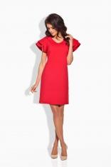 Elegancka Czerwona Sukienka Motyl