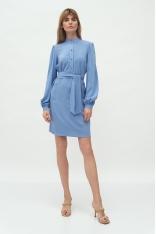 Sukienka z Koszulową Górą na Stójce - Niebieska