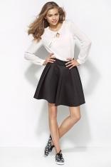 Czarna Pikowana Mini Spódnica z Koła