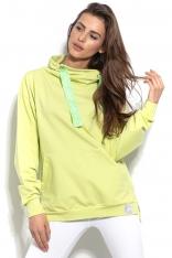 Limonkowa Komfortowa  Bluza z Kominem