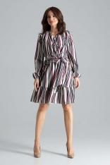 Rozkloszowana Sukienka z Kopertową Górą Wzór 110