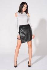 Czarna Spódnica  Mini z Eco-skórą