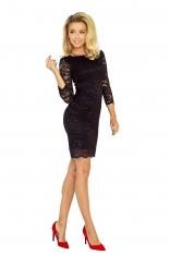 Koronkowa Sukienka Bodycon - Czarna