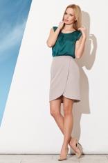 Szara Asymetryczna Spódnica Mini