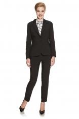 Czarne Klasyczne Eleganckie Spodnie Cygaretki