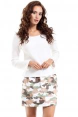 Spódnica Mini z Nadrukiem Moro Model 2