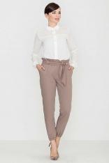 Wygodne i Praktyczne Mocca Spodnie Typu Pumpy