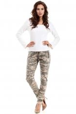 Spodnie z Troczkami z Nadrukiem Moro Model 3