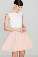 Romantyczna Sukienka bez Rękawów - Różowa