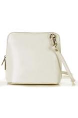 Listonoszka skórzana torebka MAZZINI - biała