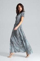 Sukienka Maxi z Podkreśloną Talią - Wzór 105