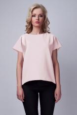 Różowa Ciekawa Bluzka z Kopertowym Założeniem na Plecach