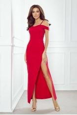 Czerwona Wieczorowa Sukienka Maxi