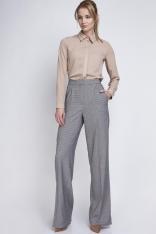 Pepito Eleganckie Spodnie z Szerokimi Nogawkami w Kant