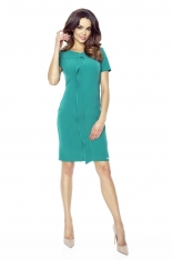 Zielona Sukienka Elegancka Mini z Plisą