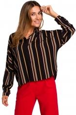 Luźna Koszula w Pionowe Pasy Model 1