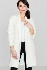 Przejściowy Ecru Płaszcz bez Zapięcia