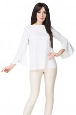 Biała Bluzka z Hiszpańskim Rękawem