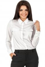 Biała Biznesowa Koszulowa Bluzka
