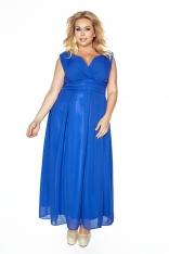 Chabrowa Wieczorowa Sukienka Maxi Plus Size