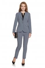 Szare Klasyczne Eleganckie Spodnie Cygaretki