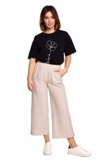 Spodnie Kuloty na Gumie - Beżowe