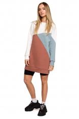 Trójkolorwa Sukienka Dresowa - Wzór 4