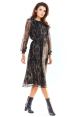 Piękna Szyfonowa Sukienka z Kolorowym Wzorem - Wzór 3