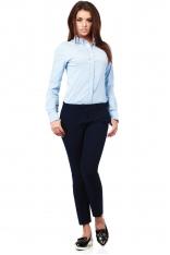 Klasyczne Spodnie z Kantem -Granatowe