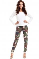 Spodnie z Troczkami z Nadrukiem Moro Model 1