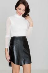 Oryginalna Czarna Spódnica z Eko-skóry