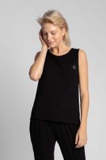 Koszulka-Top do Spania bez Rękawów - Czarna