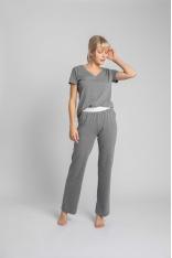 Długie Bawełniane Spodnie do Spania - Szare