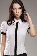 Biała Wizytowa Koszula z Krótkim Rękawem