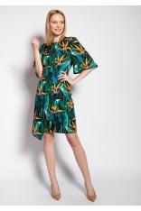 Dopasowana Sukienka z Nieregularnym Dołem w Bambus