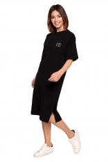 Swobodna Sukienka Bawełniana - Czarna