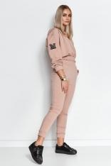 Trzyczęściowy Zestaw Top Bluza i Spodnie - Ciemnobeżowy