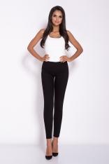 Czarne Eleganckie Dopasowane Spodnie do Kostki