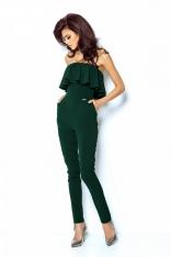 Elegancki Zielony Kombinezon z Gorsetową Górą