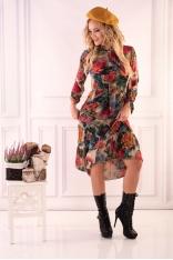 Sukienka Retro w Kwiaty