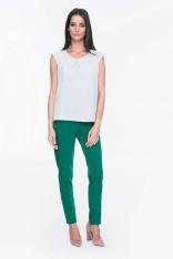 Zielone Szykowne Spodnie Tkaninowe