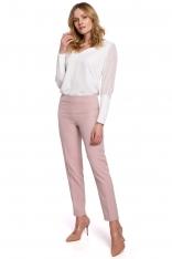 Spodnie Cygaretki w Kant - Różowe