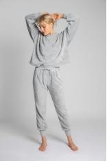 Pluszowe Spodnie Joggers - Popielate