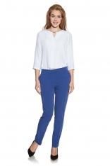 Kobaltowe Klasyczne Eleganckie Spodnie Cygaretki