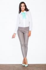 Spodnie ze Zwężanymi Nogawkami- Beżowe