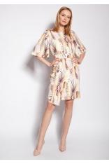 Dopasowana Sukienka z Nieregularnym Dołem w Liście